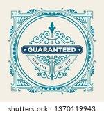 vintage badget. vector layered | Shutterstock .eps vector #1370119943