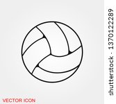 volleyball icon vector sign... | Shutterstock .eps vector #1370122289