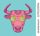 Vector Image Of A Cow With...