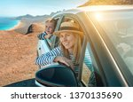 happiness mother and son ... | Shutterstock . vector #1370135690