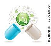 mineral vitamin magnesium... | Shutterstock .eps vector #1370136029
