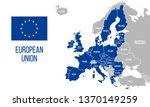 european union political map.... | Shutterstock .eps vector #1370149259