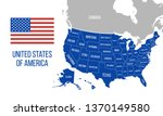 us map with state names... | Shutterstock .eps vector #1370149580