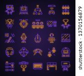 esports neon light icons set.... | Shutterstock .eps vector #1370156879