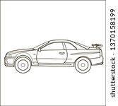 sport car. vector doodle... | Shutterstock .eps vector #1370158199