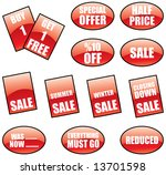 promotional sale labels and... | Shutterstock .eps vector #13701598