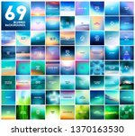 big set of 69 abstract blue... | Shutterstock .eps vector #1370163530