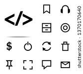 webcode character icon. web...