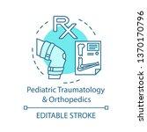 pediatric traumatology and... | Shutterstock .eps vector #1370170796