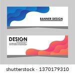 modern abstract banner design ... | Shutterstock .eps vector #1370179310