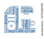 coffee maker word cloud. tag... | Shutterstock .eps vector #1370185559