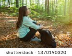 young woman resting after... | Shutterstock . vector #1370190320