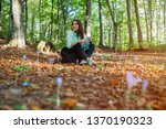 young woman resting after... | Shutterstock . vector #1370190323
