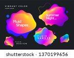 creative design fluid banner... | Shutterstock .eps vector #1370199656