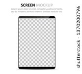 screen mockup. tablet with... | Shutterstock .eps vector #1370200796