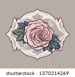beautiful hand drawn rose... | Shutterstock .eps vector #1370214269