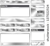 Metallic Website Interface...