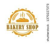 bakery logo template  vector... | Shutterstock .eps vector #1370227373
