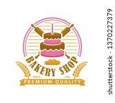 bakery logo template  vector... | Shutterstock .eps vector #1370227379