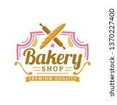 bakery logo template  vector... | Shutterstock .eps vector #1370227400