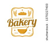 bakery logo template  vector... | Shutterstock .eps vector #1370227403