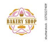 bakery logo template  vector... | Shutterstock .eps vector #1370227409