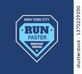 new york city run faster  ... | Shutterstock .eps vector #1370229350