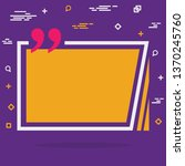 abstract concept empty speech...   Shutterstock . vector #1370245760