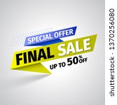 special offer final sale banner ... | Shutterstock .eps vector #1370256080