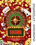 casino roulette surrounded with ... | Shutterstock .eps vector #1370264510