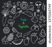 sketch fruits and vegetables... | Shutterstock .eps vector #1370265749