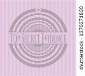 top secret evidence badge with...   Shutterstock .eps vector #1370271830