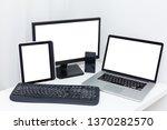 computer monitor  laptop ... | Shutterstock . vector #1370282570