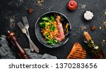 seafood with vegetables. boiled ... | Shutterstock . vector #1370283656