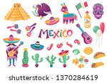mexican culture traditional... | Shutterstock .eps vector #1370284619