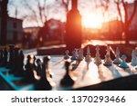 chessboard desktop game on...   Shutterstock . vector #1370293466