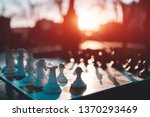 chessboard desktop game on...   Shutterstock . vector #1370293469