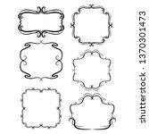 set of vector vintage frames on ...   Shutterstock .eps vector #1370301473