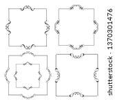 set of vector vintage frames on ...   Shutterstock .eps vector #1370301476
