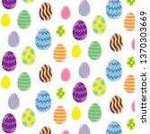 easter eggs on a white... | Shutterstock .eps vector #1370303669