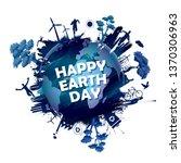 illustration of earth day... | Shutterstock .eps vector #1370306963