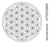 Flower Of Life Black Outline