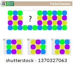 iq test practical questions  ...   Shutterstock .eps vector #1370327063