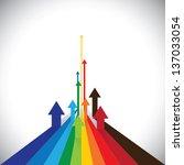 vector illustration of arrows... | Shutterstock .eps vector #137033054