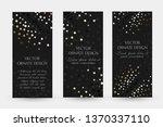 golden dots design. luxury...   Shutterstock .eps vector #1370337110