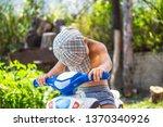 the little boy fell asleep at... | Shutterstock . vector #1370340926