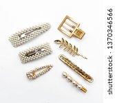 pin set beauty trendy... | Shutterstock . vector #1370346566