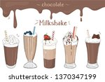 set of milkshakes with...   Shutterstock .eps vector #1370347199