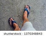 Feet Of A Man Wearing Sandals