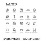 set of 20 line icons such as... | Shutterstock .eps vector #1370349800